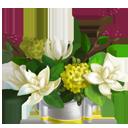 Ivory Chalice Magnolia Vase