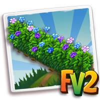 Flowery Hedge Fence