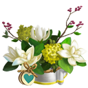 Heirloom Ivory Chalice Magnolia Vase